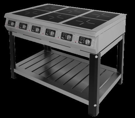 Плита 6-и конфорочная индукционная Ф6ИП/800 (на подставке) Grill Master