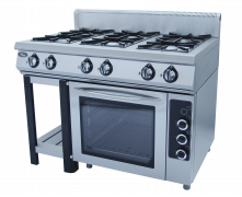 Плита газовая 6-ти горелочная Ф6ПДГ/800 с комбинированной духовкой