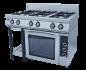 Плита газовая 6-ти горелочная Ф6ПДГ/800 с комбинированной духовкой Grill Master