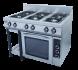 Плита 6-ти горелочная газовая Ф6ПДГ/800 (с газовой духовкой) Grill Master
