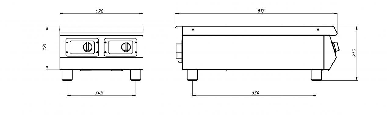 Индукционная плита Ф2ИП/800 (настольная) Grill Master