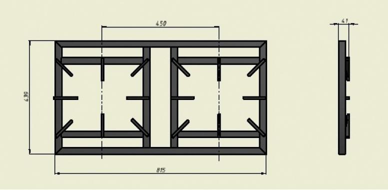 Плита 2-х горелочная газовая Ф2ЖТЛПГ (усиленная, на подставке) Grill Master