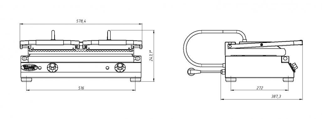 Контактная гриль/жарочная поверхность Ф4ктЭ Grill Master