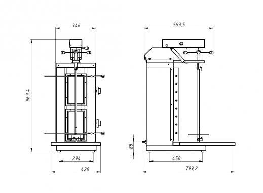 Шаверма-шашлычница газовая Ф2ШмГ(у) Grill Master