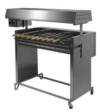 Шашлычница на твердом топливе и газе Ф2ШГ Grill Master