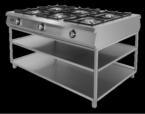 Плита газовая 6-ти горелочная Ф6П2Г/1000(подход с 2-х сторон) Grill Master