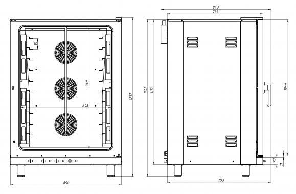 Печь конвекционная ФЖШ/10 (под противень 600х400 GN1/1 Grill Master