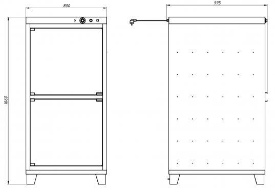 Расстоечный шкаф  РПК 1 (полностью из нержавеющей стали) Grill Master