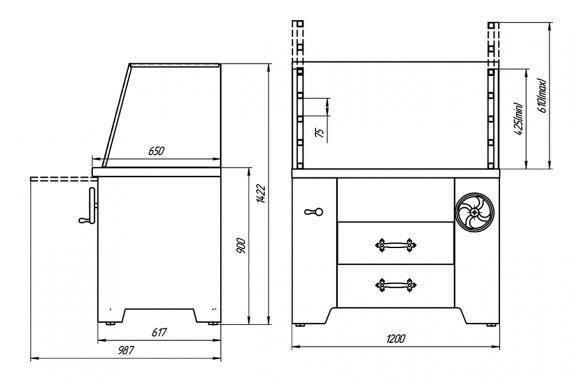 Мангал многофункциональный угольный УММ/2 (ROBATA L1200) Grill Master