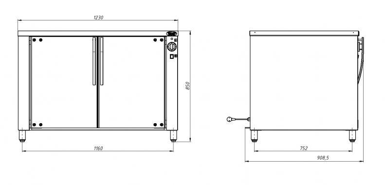 Расстоечный шкаф  РПК 3 Grill Master