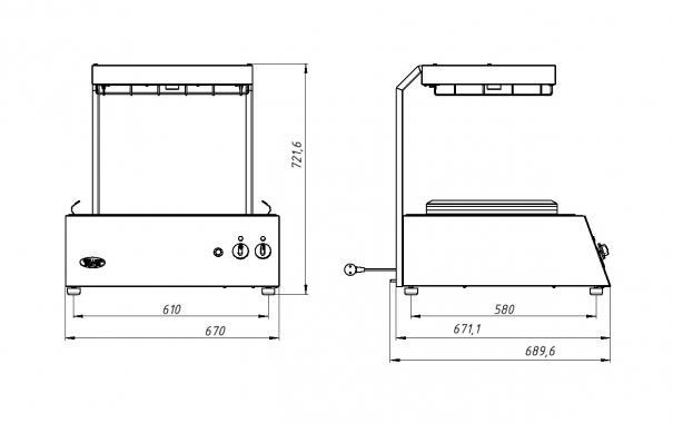 Аппарат для подогрева электрический Ф2ПКЭ (200) Grill Master