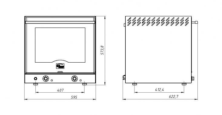 Печь конвекционная ФЖШ/1 (под противень 435х330) Grill Master