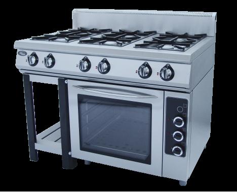 Плита газовая 6-ти горелочная Ф6ПДГ/800 с  электрической духовкой Grill Master